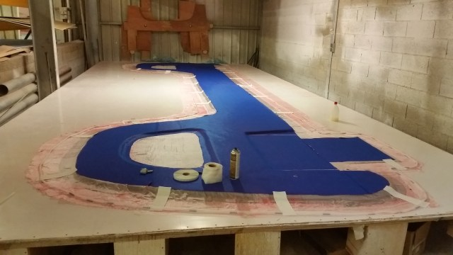 Laying out the upper section of the aft bulkhead