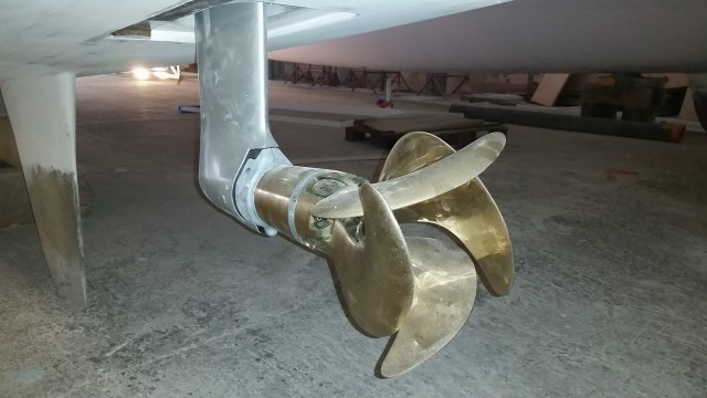 Prop in folded position.