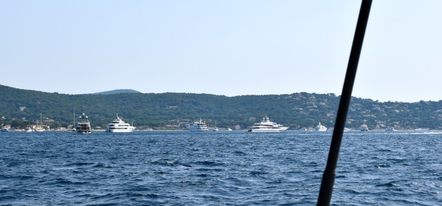 A few of the Big boats anchored outside of St-Tropez.