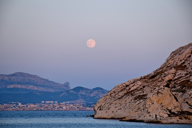 Full moon over Marseilles