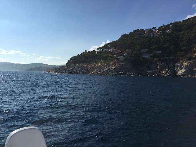 Leaving the protection of Port de Roses before tackling the 30 to 40 knot winds around the cape
