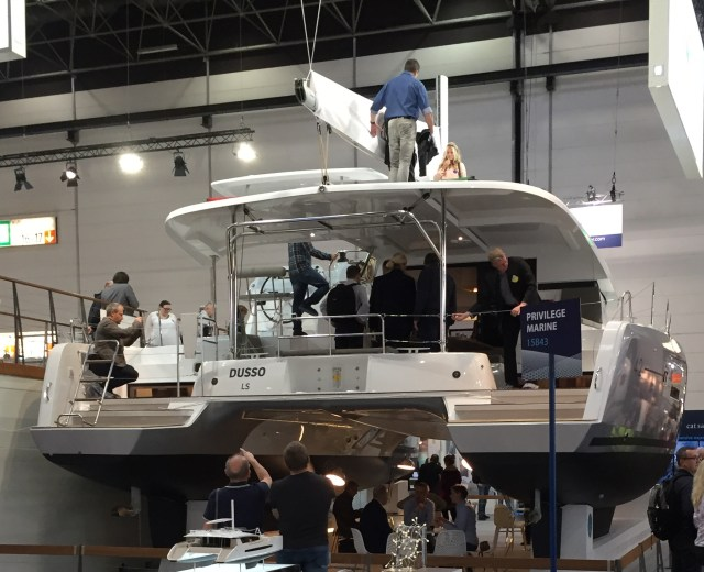 Lagoon where at the show with two of their new model boats