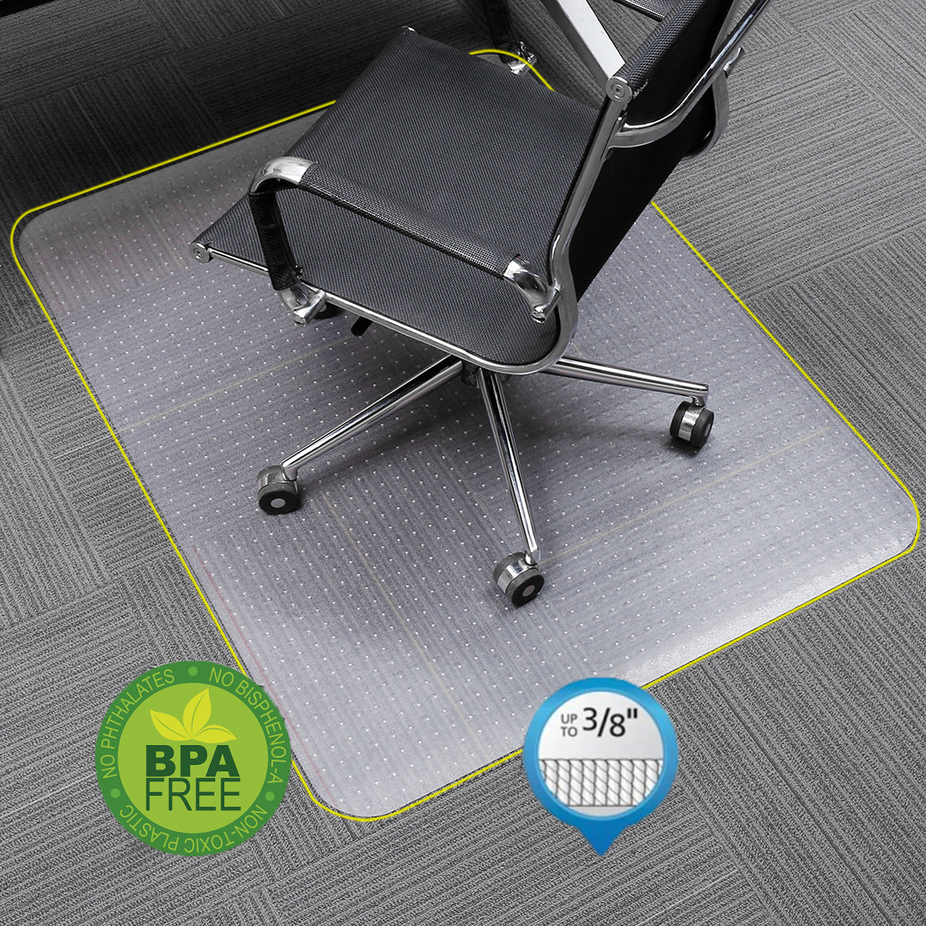 Office Chair Carpet Protector Details About Non Slip Pvc Home Office Chair Floor Mat Cover Carpet Protector 48