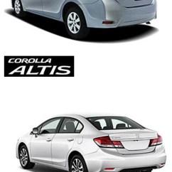 All New Corolla Altis Vs Civic Toyota Yaris 2017 Trd Parts Honda Saimies Tech Design Comparison