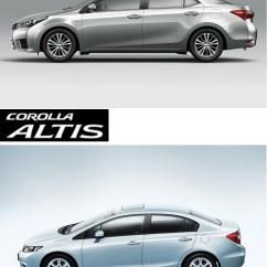 All New Corolla Altis Vs Civic Camry Philippines Toyota Honda Saimies Tech Side View
