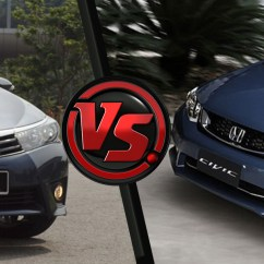 All New Corolla Altis Vs Civic List Grill Grand Avanza Toyota Honda Saimies Tech