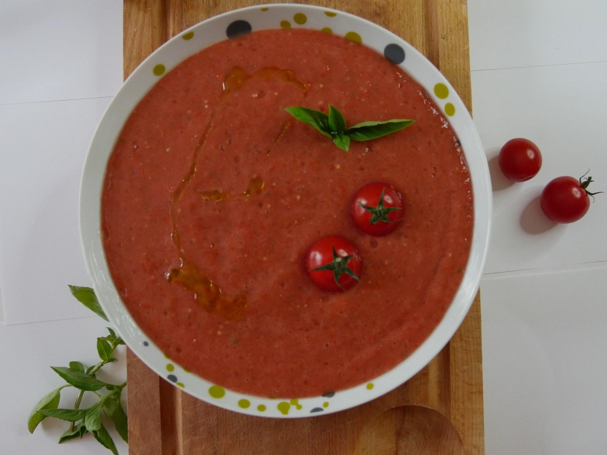 Gaspacho aux tomates cerises - Gaspacho aux tomates cerises