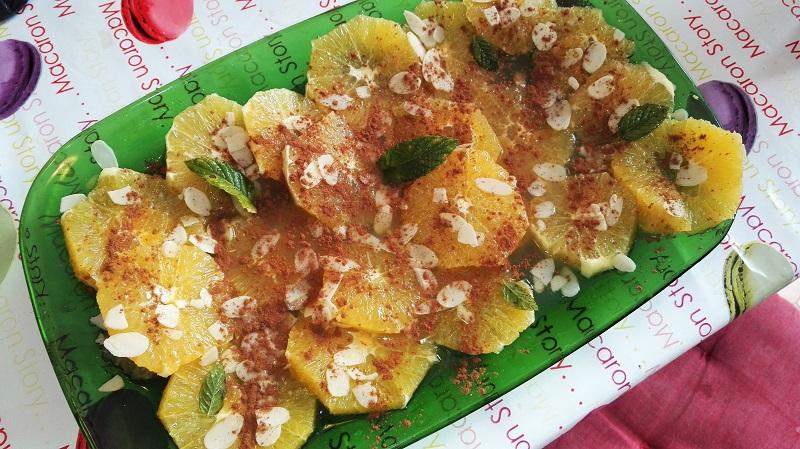 Salade d'orange à la cannelle
