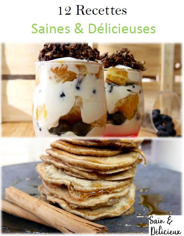 12 recettes saines et délicieuses couverture - Les Recettes
