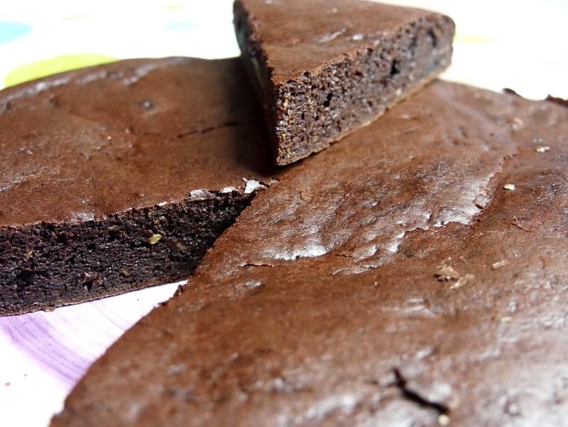 Moelleux chocolat à la courgette