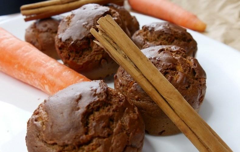 Muffins à la carotte & farine de pois-chiches