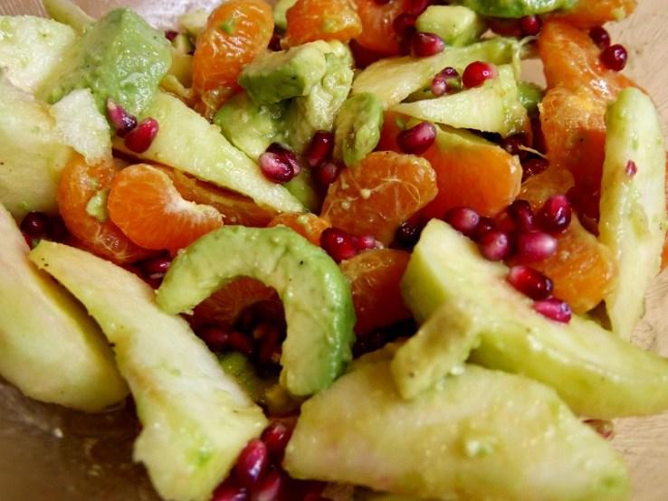 Salade avocat pomme clémentine - Coup de cœur de Mars : Salade d'avocats, clémentines & pomme acidulée