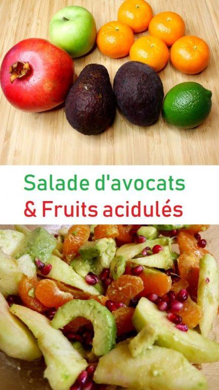 Salade clémentine et avocat Pinterest 576x1024 - Coup de cœur de Mars : Salade d'avocats, clémentines & pomme acidulée