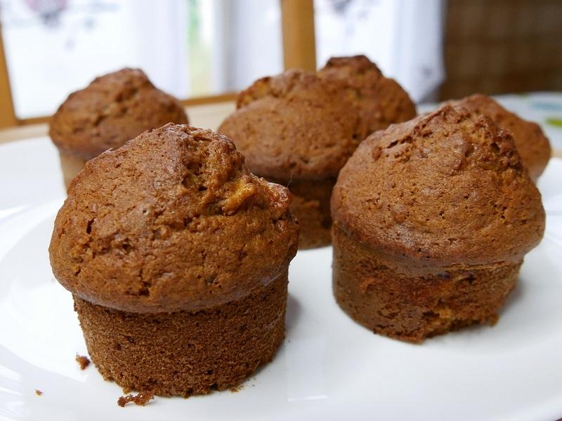 Muffins pomme avoine - Muffins à la pomme & flocons d'avoine