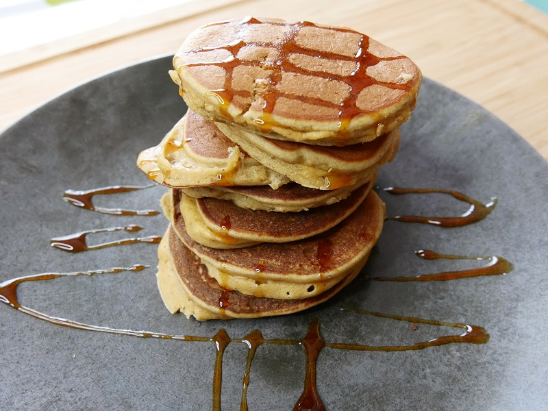 Pancakes aux pois chiches - Pancakes aux pois-chiches