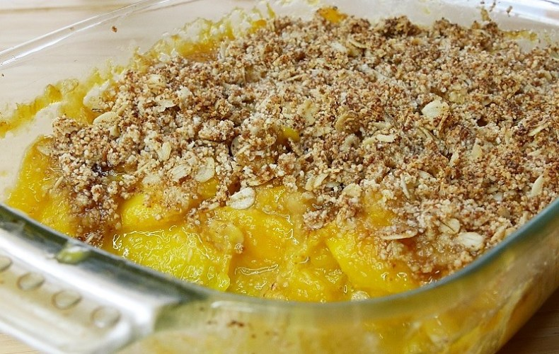 Crumble à la mangue