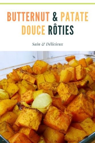 Butternut Patate Douce Rôties - Butternut & Patate Douce Rôties