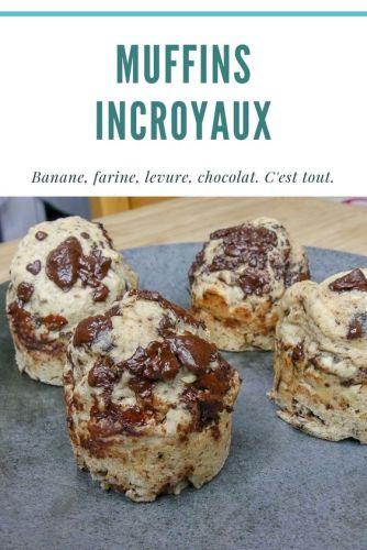 Muffins Incroyaux La Recette - Muffins Banane «Incroyaux» (Vegan, Sans Sucres Ajoutés)