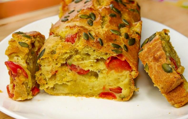 Cake Courgette, Tomate & Mozzarella