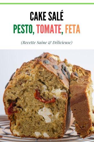 Cake Sale Pesto Tomate Feta healthy 1 - Cake Salé : Pesto, Tomate & Feta (healthy)