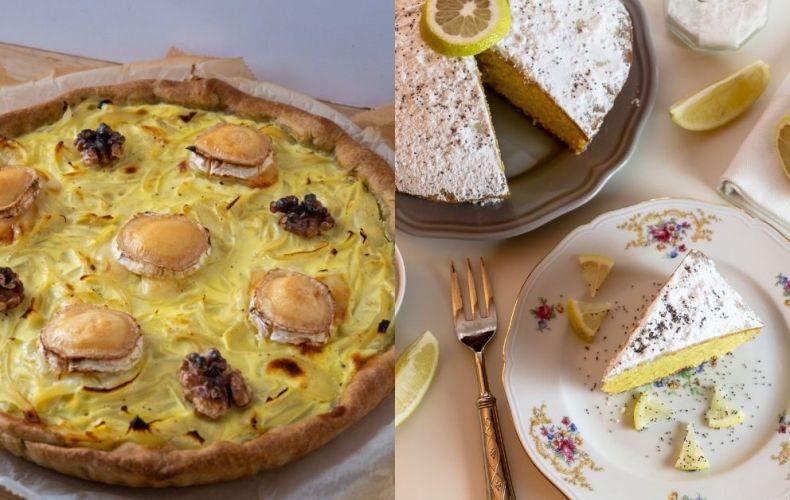 Cake au Citron & Tarte à l'Oignon (légère)