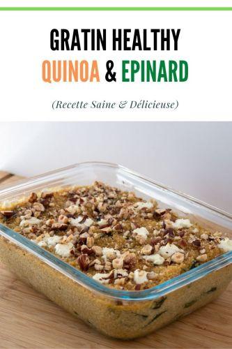 Gratin Quinoa Epinard Chevre healthy - Gratin Quinoa, Epinard & Chèvre (healthy)