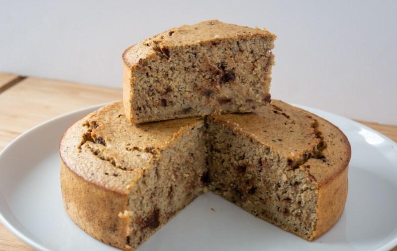 Gâteau Banane, Avoine & Noisettes (Sans Gluten)