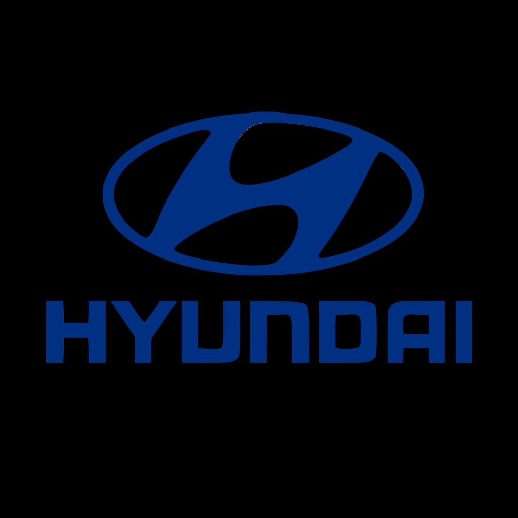 A Go Partner logos on black square.Hyundai