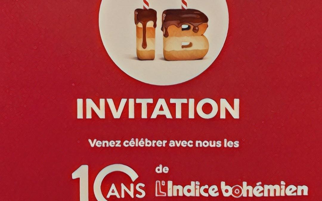 L'INDICE BOHÉMIEN – 10 ANS