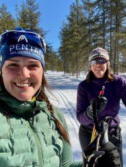 Maude (13km de skate) et Sylvie (13km classique + 2km de marche)
