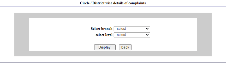How to check Circle / District wise details of complaints?