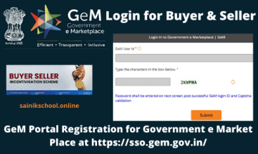 GEM Login for Buyer & Seller | GeM Portal Registration for Government e Market Place