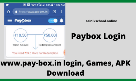 Paybox Login – www.pay-box.in login, Games, APK Download