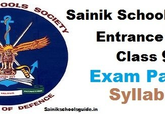 Sainik Schools Entrance Exam Class 9 Syllabus Exam Pattern