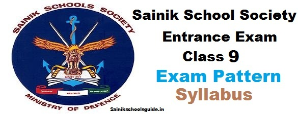 Sainik Schools Entrance Exam Class 9 Syllabus Exam Pattern