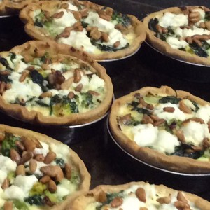 spinach and ricotta tartlet