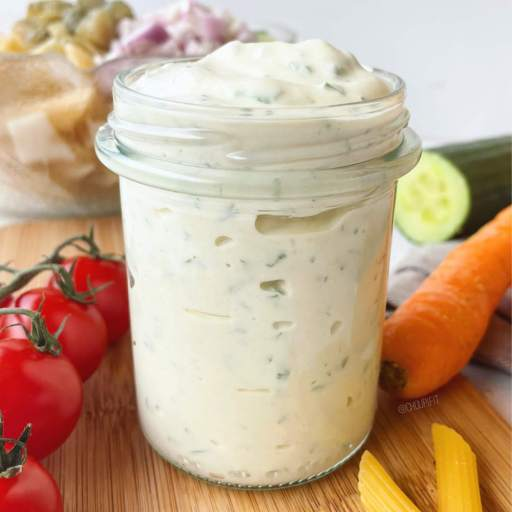 recette healthy et allégée de sauce blanche pour salade de pâtes sans crème et sans mayonnaise