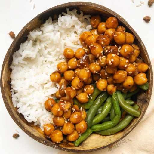 recette healthy et vegan sans lactose et sans gluten de sauce teriyaki maison pour accompagner des pois chiche