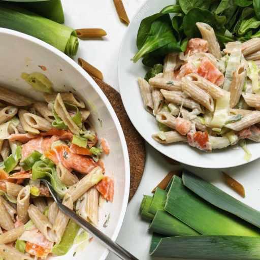 Recette de salade de pâtes froide au saumon fumé light