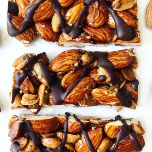 recette healthy de barres de céréales et noix sans gluten et vegan