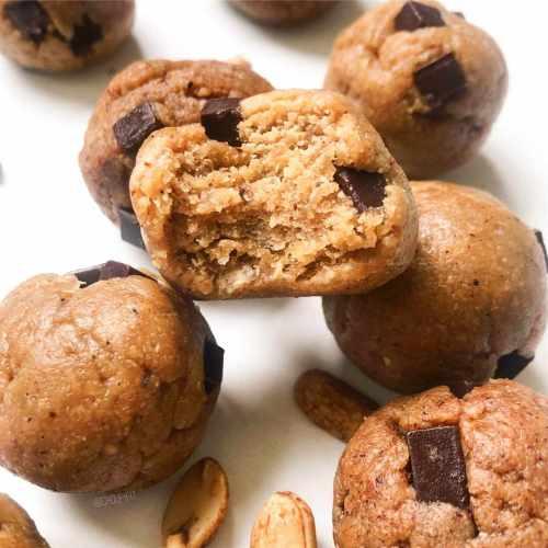 Pâte à cookie crue sans pois chiches comestible