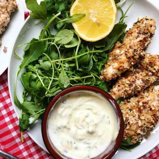 Recette healthy de nuggets de poulet maison au four et aux flocons d'avoine sans oeuf