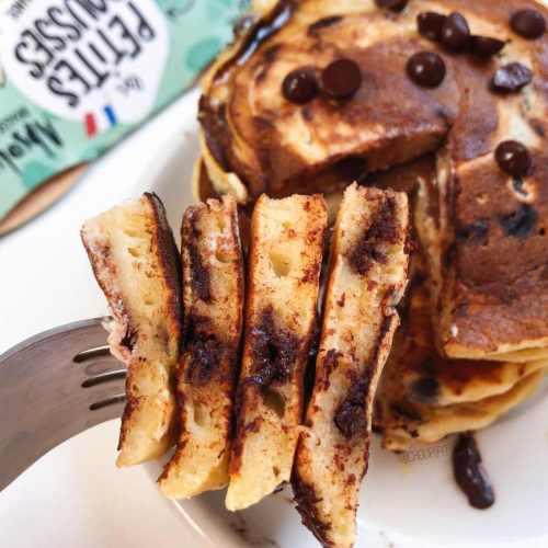 Pancakes sains sans lait et sans lactose