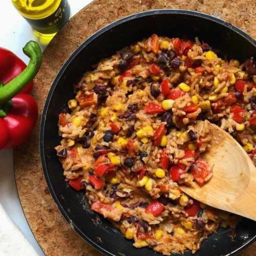 Chili con carne risotto végétarien