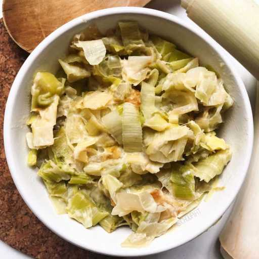 recette healthy et light de fondue de poireaux sans crème et sans matière grasse