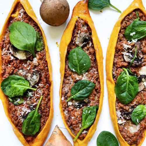 Pide turc ou la pizza à la viande hachée et patate douce