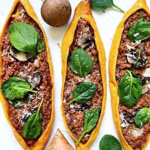 recette healthy et originale de pide turc, la pizza garnie de viande hachée sans beurre et sans sucre
