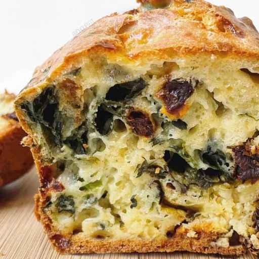 recette healthy et léger de cake salé pour l'apéro aux tomates séchées et au cottage cheese sans beurre