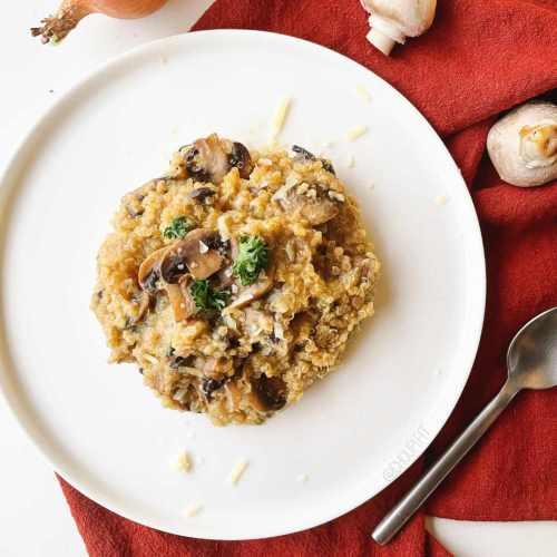 Quinoasotto végétarien aux champignons