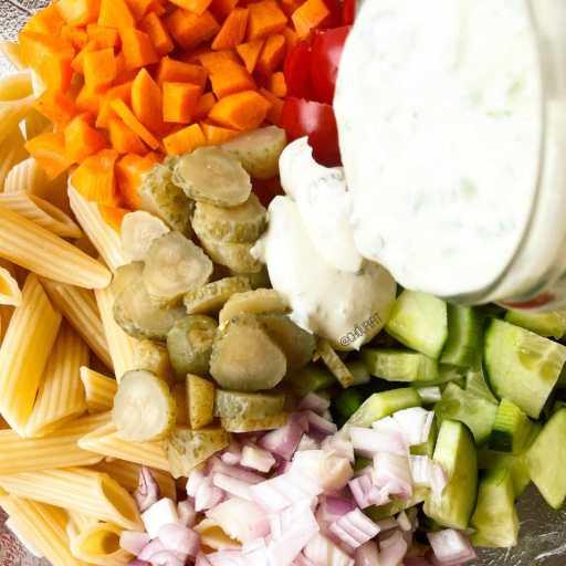 recette healthy et végétarienne de salade de pâtes pour l'été